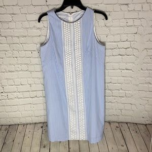 London Times Petites Seersucker Dress 12P